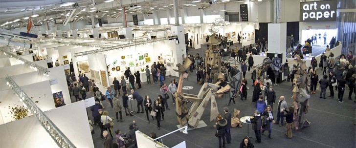 Pier 36, New York City, the Art on Paper fair during Armory Arts Week. Photo: Madison Harmer