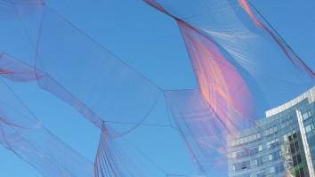 Boston's Rose Fitzgerald Kennedy Greenway sculpture by Janet Echelman. Photo: ArtsEditor