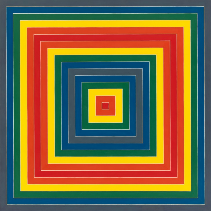 Frank Stella, Gran Cario, 1962, alkyd on canvas, 85 9/16 x 85 9/16 inches. Included in Frank Stella: A Retrospective, Whitney Museum of  American Art. Image source: Whitney.org